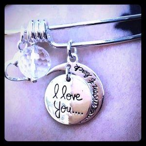 NIB Adjustable Sterling Silver Charm Bracelet